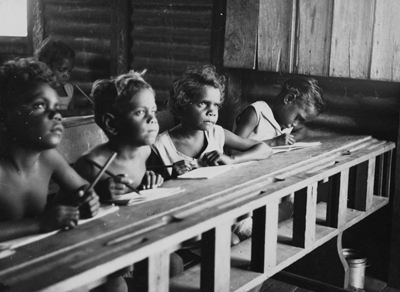 School, Mornington Island, 1950. Courtesy of the State Library of Queensland and the community of Mornington Island.